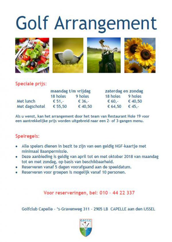 Golf Arrangementen per 180401