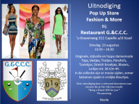 Uitnodiging Pop Up Store Fashion & More